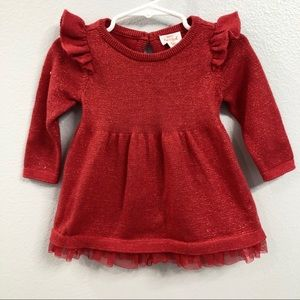 Cat & Jack Baby Christmas Red sweater Dress